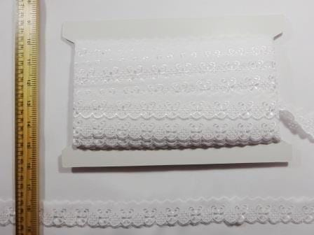 Lace Trim White Flat Zurich Broderie Anglais
