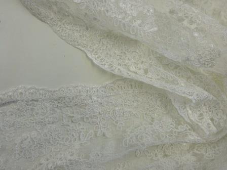 Lace Designer Ivory Fabric Rio