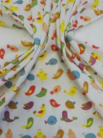 Cotton Canvas Fabric Birds Of A Feather