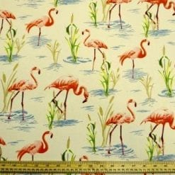 Cotton Canvas Fabric Stork River
