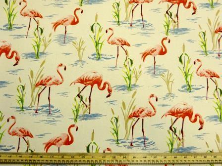 Cotton Canvas Fabric Stork River