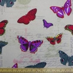 Cotton Canvas Fabric Butterfly Beauty
