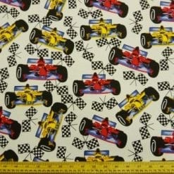 Cotton Canvas Fabric Silverstone