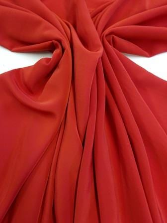 Crepe De Chine Fabric Red