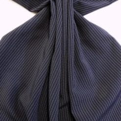 Pin Stripe Suiting Fabric Gangster Paradise Navy