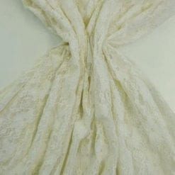 Lycra Lace Fabric Purbeck Stretch ivory