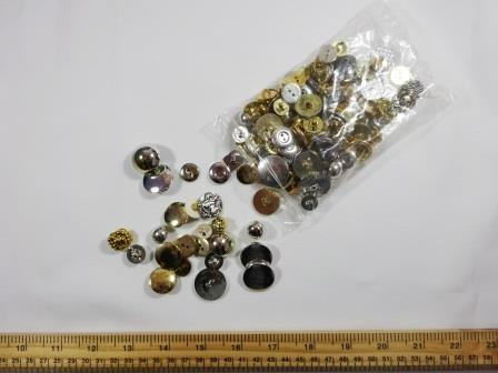 Buttons Mixed Assorted Silver And Gold