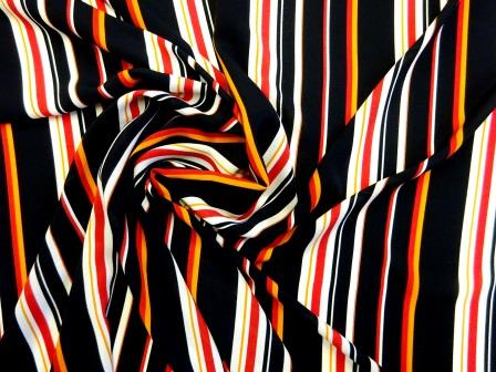 Georgette Fabric Boarder Line Stripe