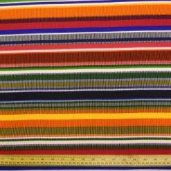 Georgette Fabric Multi Swap Shop Stripe