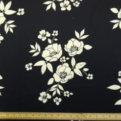 Crepe Sateen Fabric Monroe Blooms