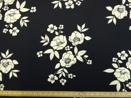 Crepe Sateen Fabric Monroe Blooms
