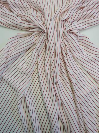 Viscose Fabric Liquorish Laces Stripe