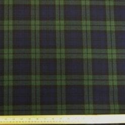 Tartan Suiting Fabric McArthur Fox Green Blue