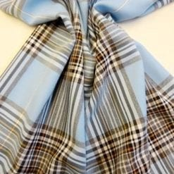 Tartan Suiting Fabric Happy Check pale blue