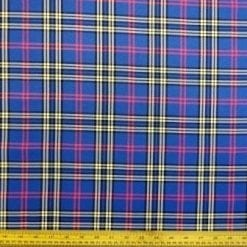 Tartan Suiting Fabric Royal McTavis