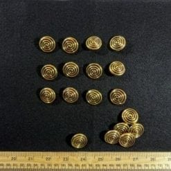 Gold Swirl Buttons Code Jam
