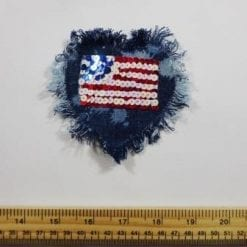 Sequin Denim Patch Motif