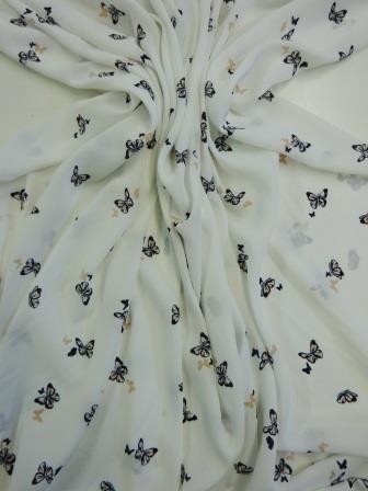 Georgette Fabric Bring Me Butterflies
