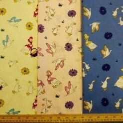 Cotton Printed Fabric Goosey