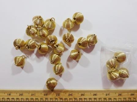 Gold Spiral Balls
