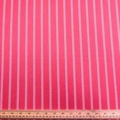 Suiting Fabric Pin Stripe Cerise Lollipop