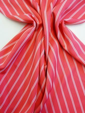Suiting Fabric Pin Stripe Cerise Lollipop