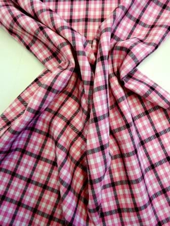 Suiting Fabric Cerise June Check