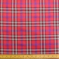Tartan Suiting Fabric Mc Heart Cyclamen