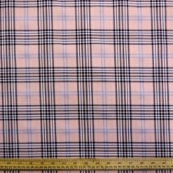 Tartan Suiting Fabric Peach Melba