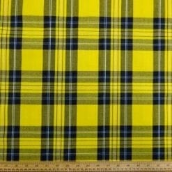 Tartan Suiting Fabric McFly Yellow