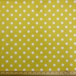 Cotton Canvas Fabric Mustard Hot Spot
