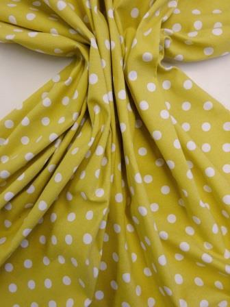 Cotton Canvas Fabric Mustard Hot Spot