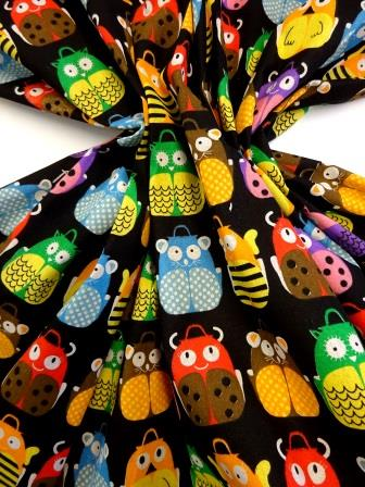 Cotton Canvas Fabric Animal Backpacks