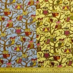 Cotton Canvas Fabric Hoot Nanny