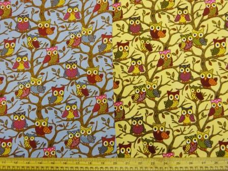 Cotton Canvas Fabric Hoot Nanny