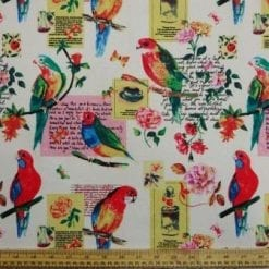 Cotton Canvas Fabric Pretty Polly