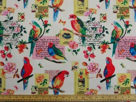 Cotton Canvas Fabric Pretty Polly