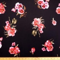 Jersey Fabric Rose Flower