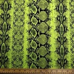 T-Shirting Jersey Fabric Lime Reptile