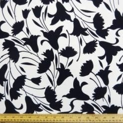 Crepe De Chine Fabric Black Tulip Anniversary