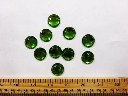 Jewels Sew On Extra Large Rounds lime