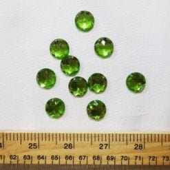 lime large round sew on jewel