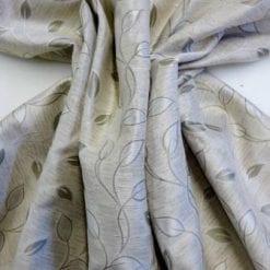 Curtaining Fabric Leaf Design cream