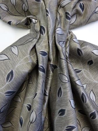 Curtaining Fabric Leaf Design beige