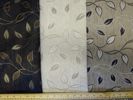 Curtaining Fabric Leaf Design
