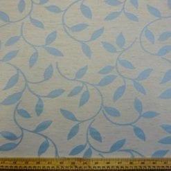 Curtaining Fabric Azure Blue Leaf