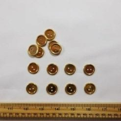 Gold Plain 2 Hole Buttons 18mm Code Jam