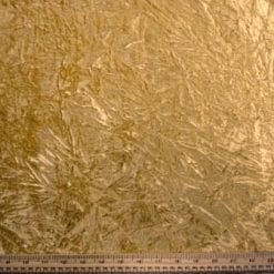 Velvet Fabric Gold Creased
