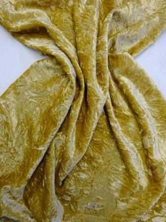Velvet Fabric Gold Creased