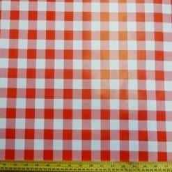 PVC Tabling Fabric Red Gingham